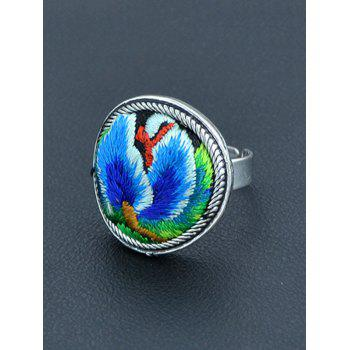 Vintage Embroidery Decorated Ring - BLUE BLUE