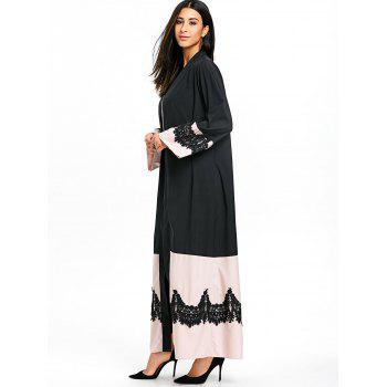 Bell Sleeve Duster Coat with Tie Belt - BLACK BLACK