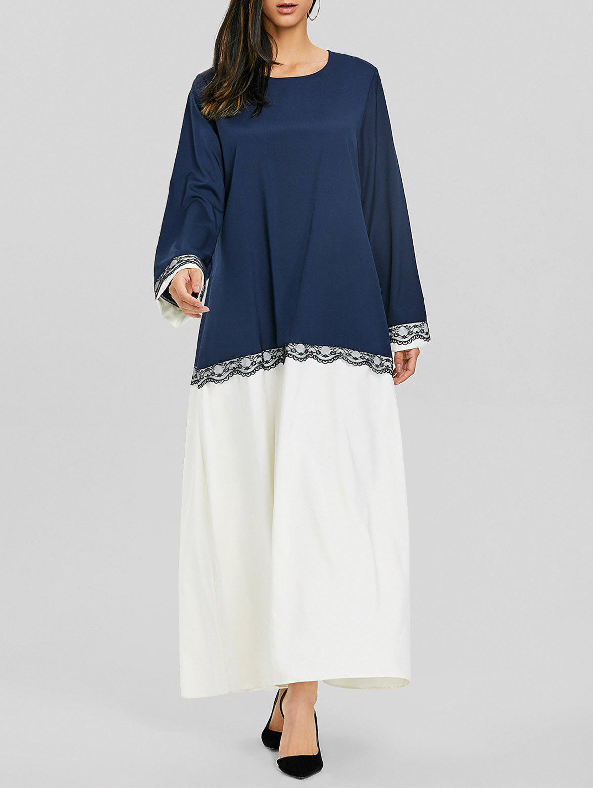 Two Tone Middle Eastern Longline Dress middle eastern patterns to colour