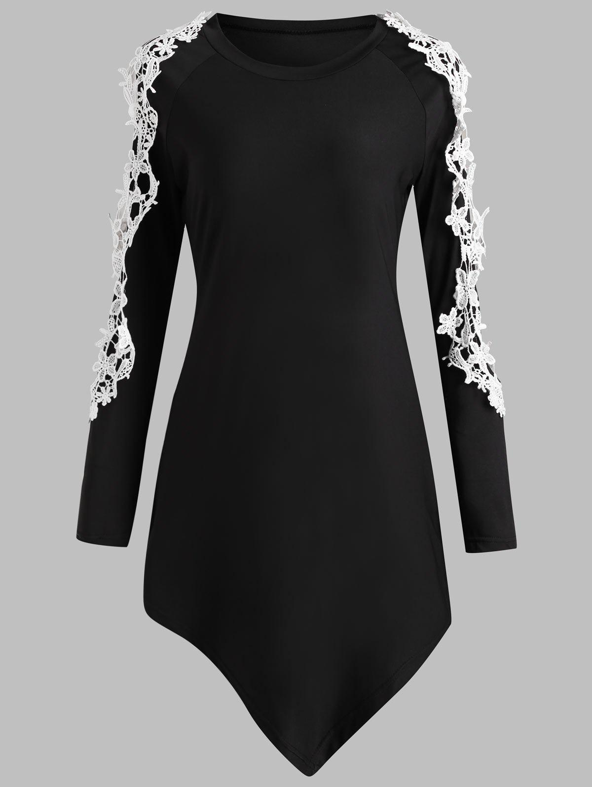 Cut Out Lace Sleeve Asymmetrical T-shirt wastewater treatment design construction and operation