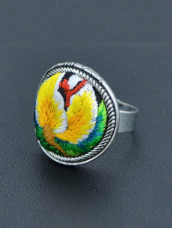 Vintage Embroidery Decorated Ring - YELLOW ONE-SIZE