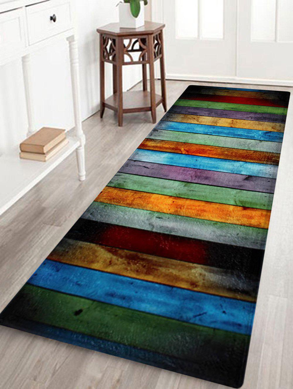 Coral Velvet Colorful Stripe Large Area Rug colorful stripe antislip coral velvet area rug