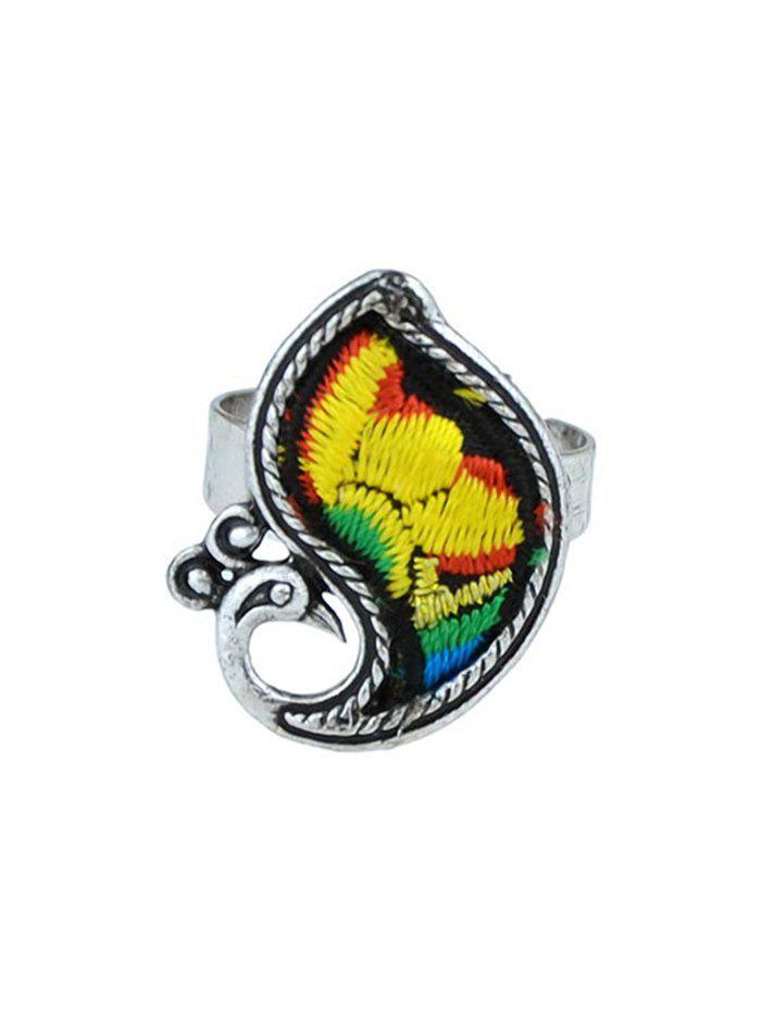 Bird Shape Paillette Ring - YELLOW ONE-SIZE