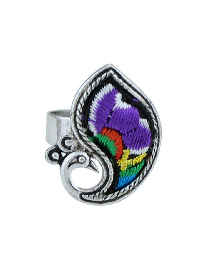 Bird Shape Paillette Ring - PURPLE ONE-SIZE