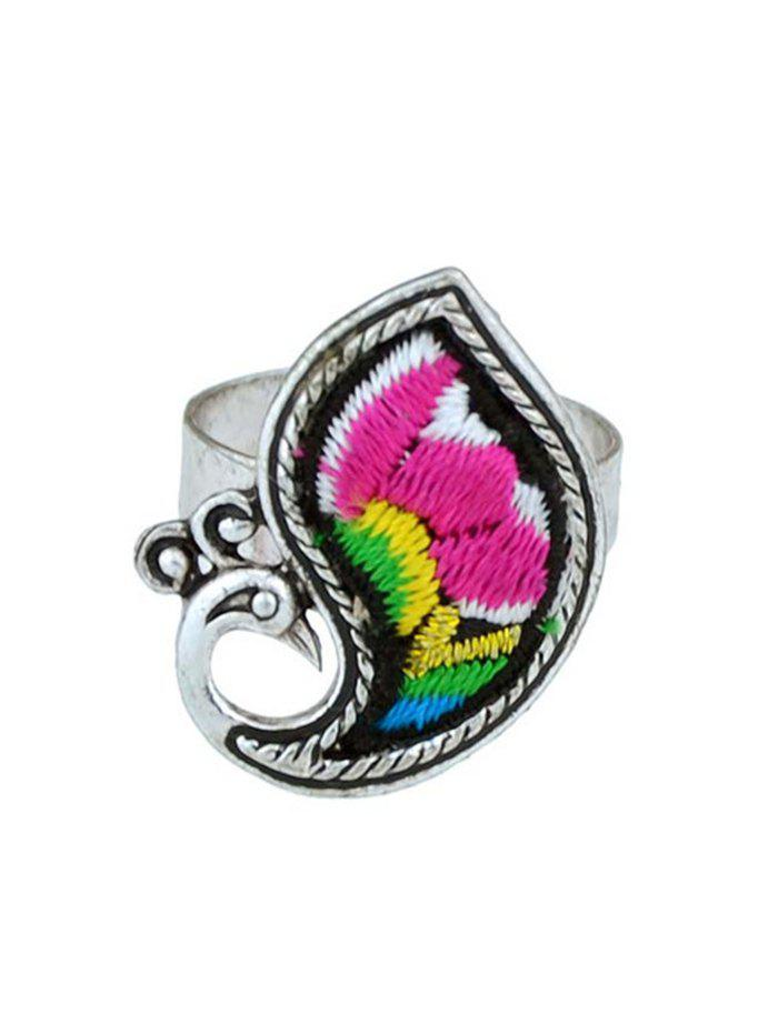 Bird Shape Paillette Ring - RED ONE-SIZE