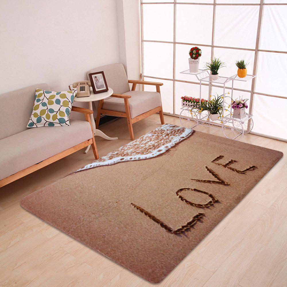 Beach Velvet Soft Absorbent Bathroom Rug - LIGHT BROWN W47 INCH * L63 INCH