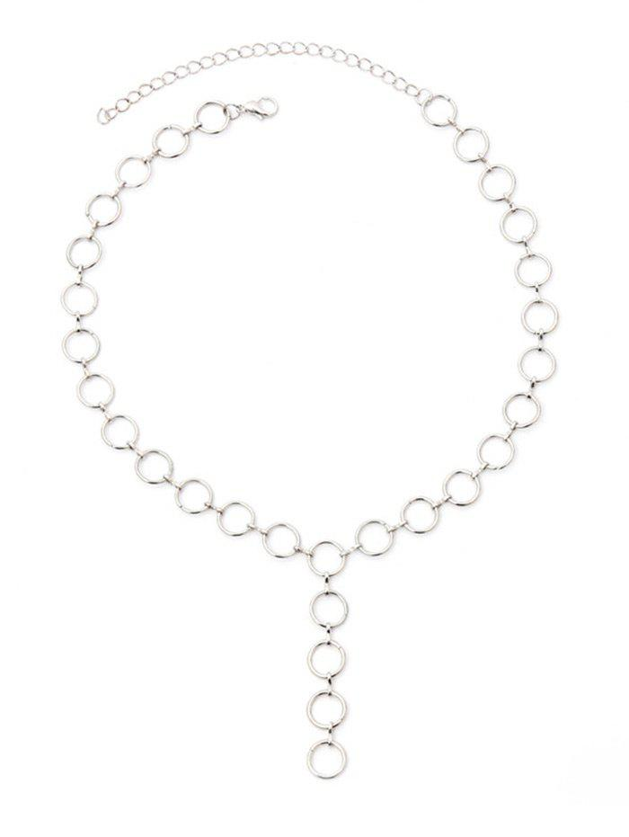 Фото Metal Small Circle Design Chains Necklace