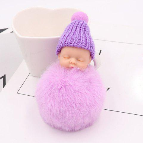 Sleep Baby Fluffy Cute Keychain - PURPLE