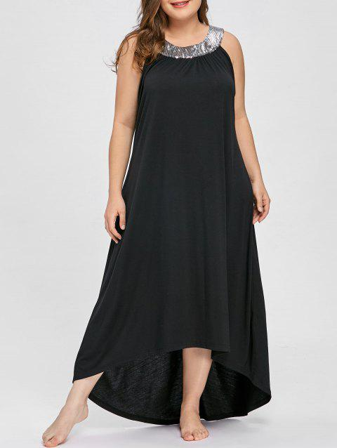 107853dabea 41% OFF  2019 Sequins Collar Plus Size Sleeveless Maxi Dress In ...