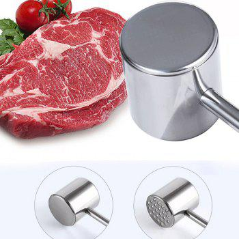 Stainless Steel Double-Sided Meat Mallet Tool - STAINLESS STEEL
