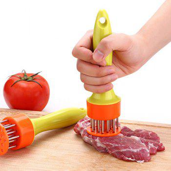 Kitchen Tool Stainless Steel Meat Tenderizer Prongs - YELLOW