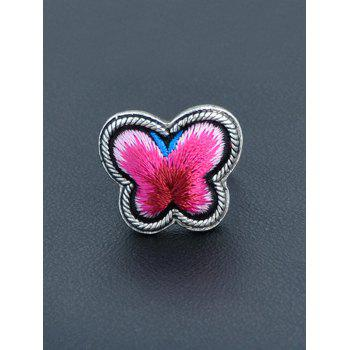 Butterfly Shape Paillette Ring - RED ONE-SIZE