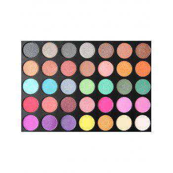 35 Color Long Lasting Highly Pigmented Eyeshadow Palette - multicolor