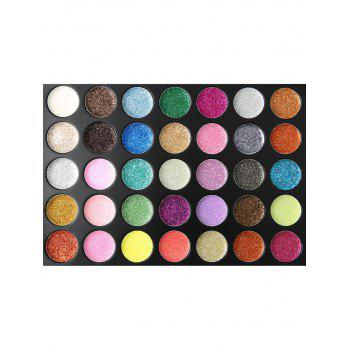 Professional 35 Colors Highly Pigmented Eyeshadow Palette - multicolor