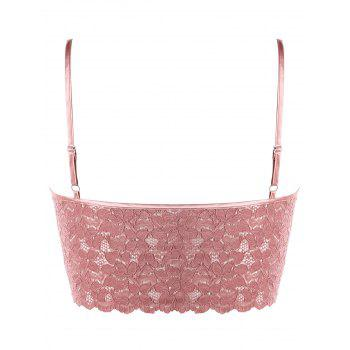 Plus Size Front Cross Lace Camisole - PINK 2XL
