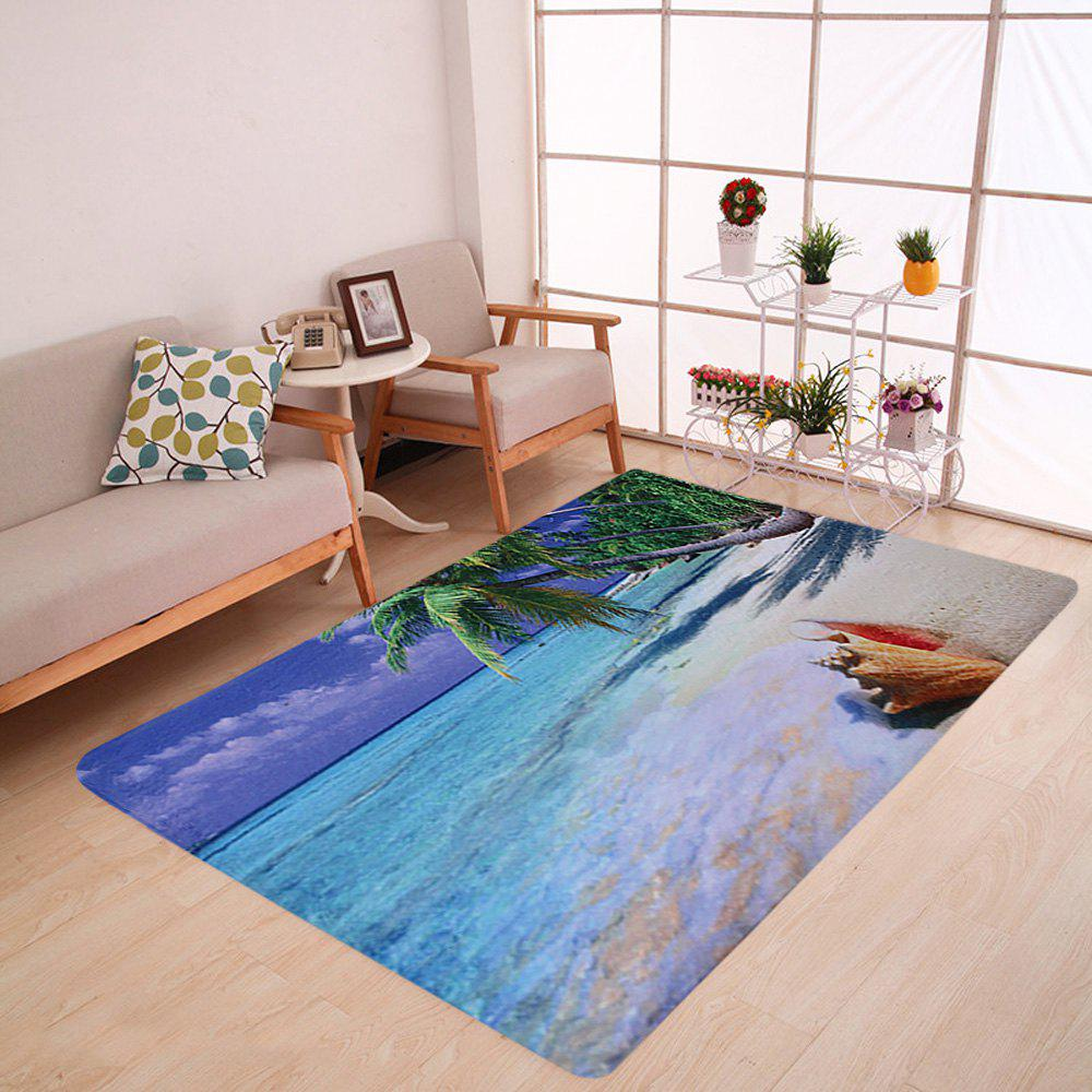 Beach Print Coral Fleece Absorbent Area Rug wholesale output usb 125khz em4100 rfid proximity reader 10 key tags