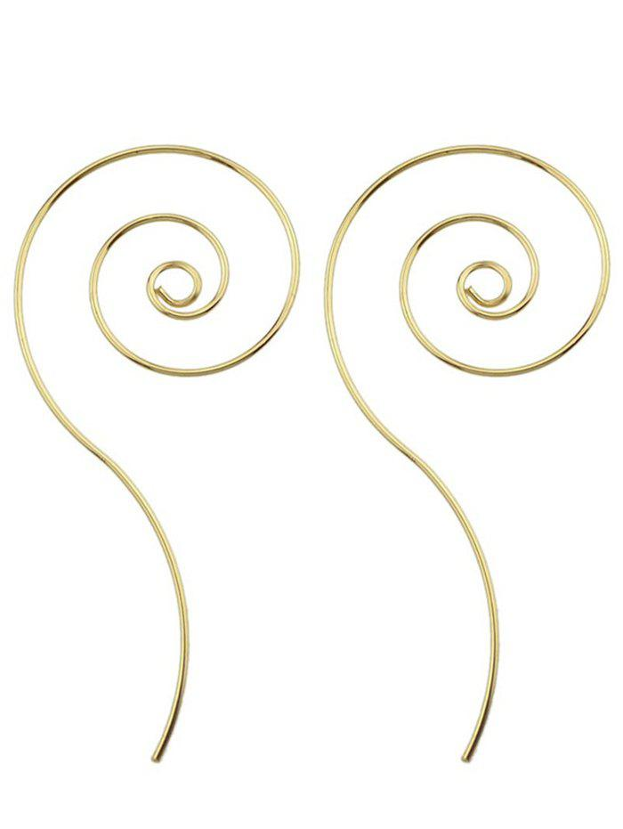 Metal Spiral Shape Hoop Earrings
