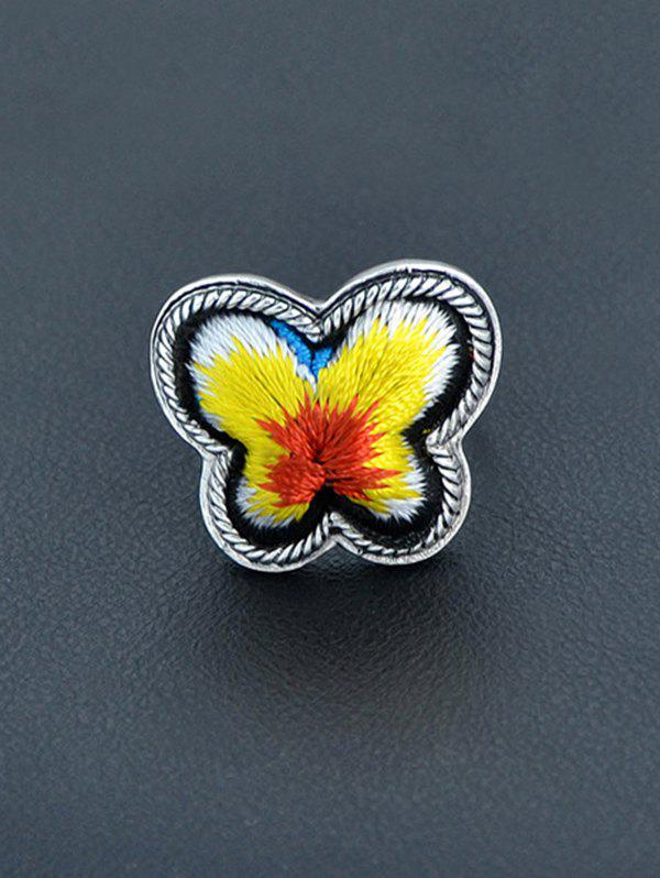 Butterfly Shape Paillette Ring - YELLOW ONE-SIZE