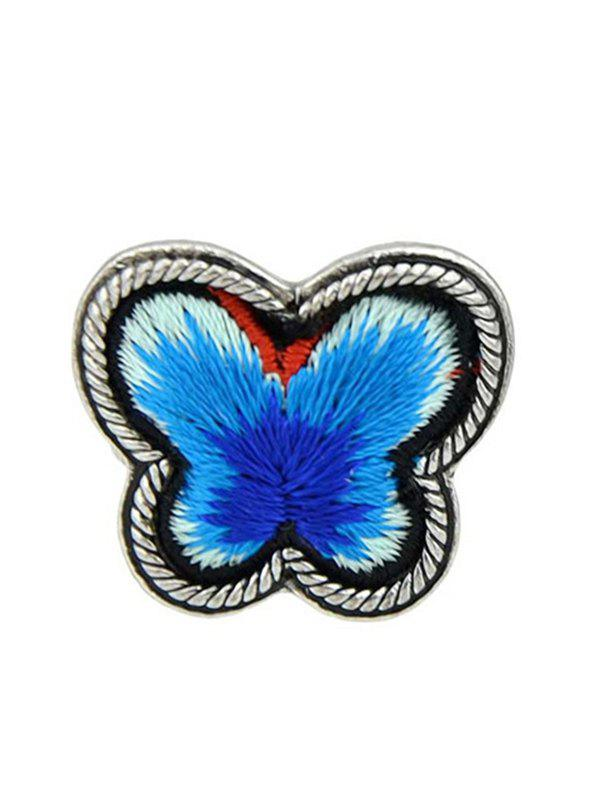Butterfly Shape Paillette Ring - BLUE ONE-SIZE
