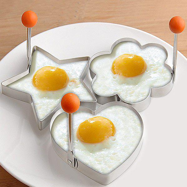Thickening Stainless Steel Flower Star Heart Shape Omelette Eggs Moulds - STAINLESS STEEL