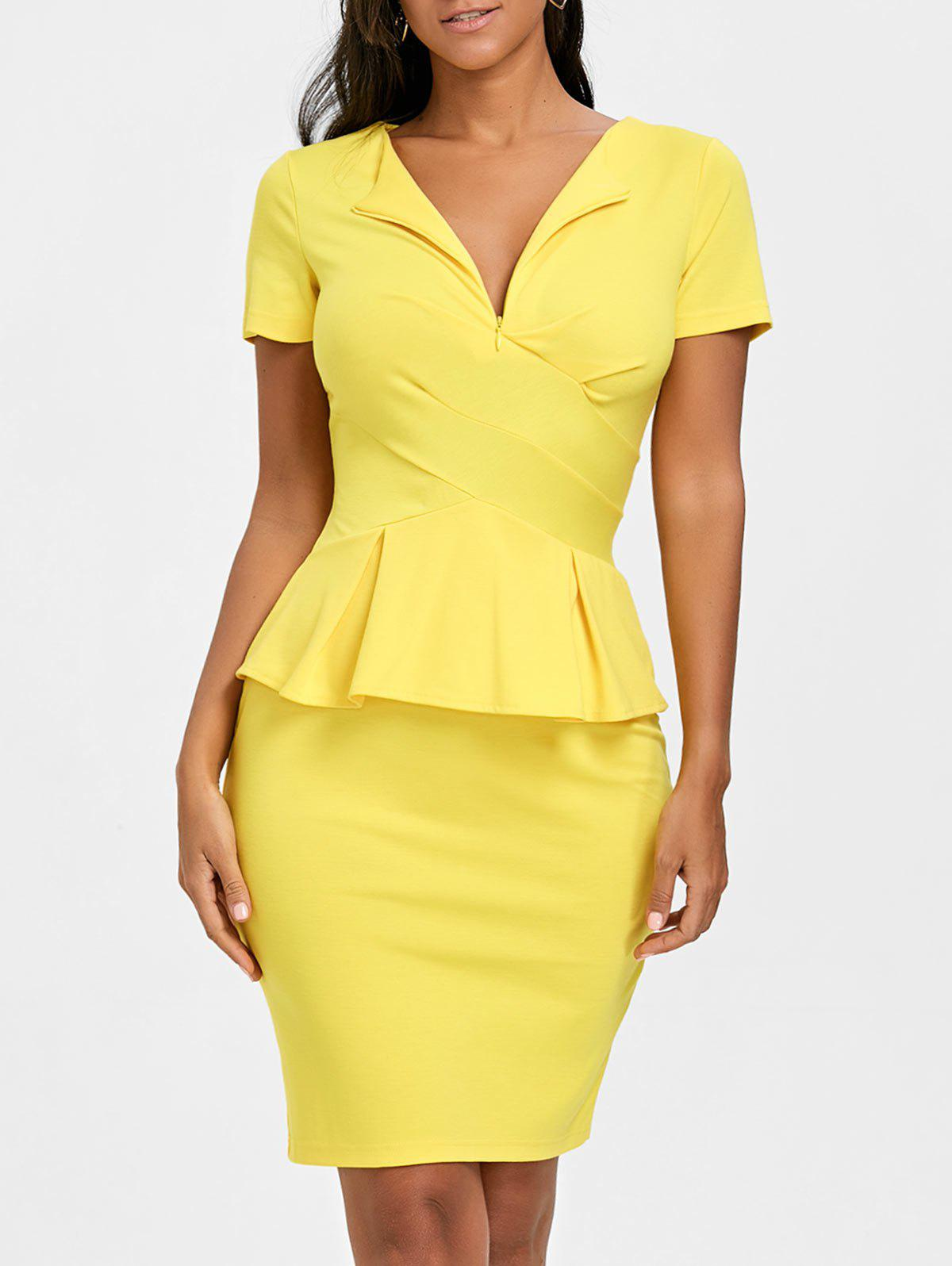 Bodycon Peplum Dress -