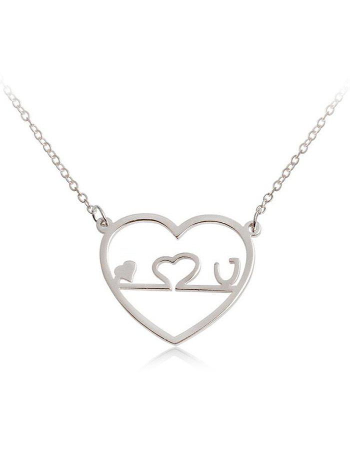 Valentine's Day Hollow Out Heart Shape Pendant Necklace delicate noctilucence hollow out geometric shape pendant necklace