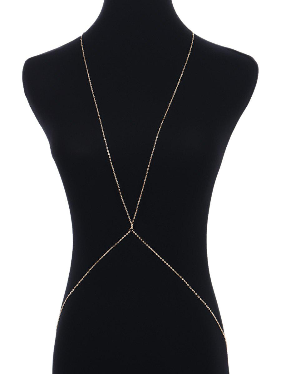 Simple Alloy Body Chain - GOLDEN