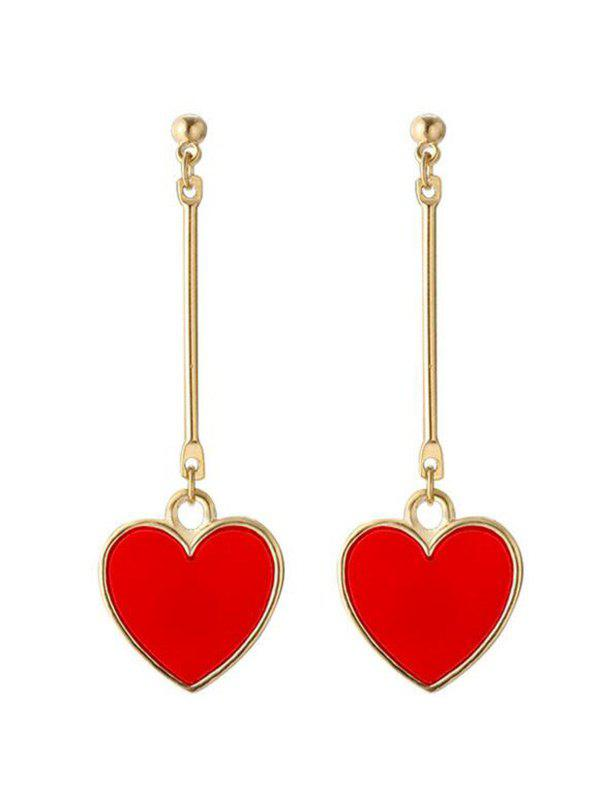 Valentine's Day Metal Heart Drop Earrings metal hand design drop earrings