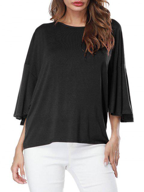 Butterfly Sleeve Drop Shoulder T-shirt - BLACK S