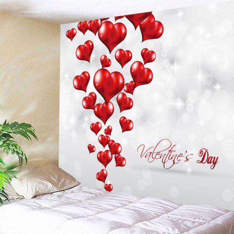 d48910a956 Valentine s Day Love Hearts Pattern Wall Art Tapestry - GREY WHITE W79 INCH    L59 INCH