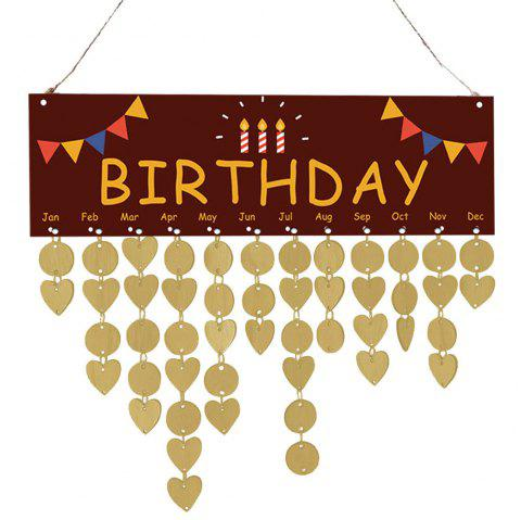 DIY Decoration Birthday Reminder Hanging Calendar Board - GOLDEN