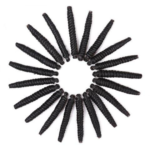 20 Roots/Pack Crochet Braids Spring Twisted Synthetic Hair Extensions - BLACK