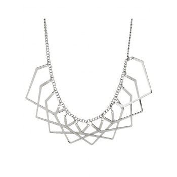 Alloy Geometric Charm Necklace