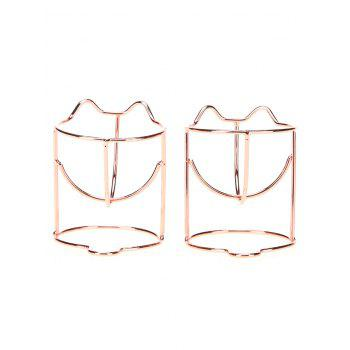 2Pcs Beauty Tool Makeup Sponge Holders - ROSE GOLD