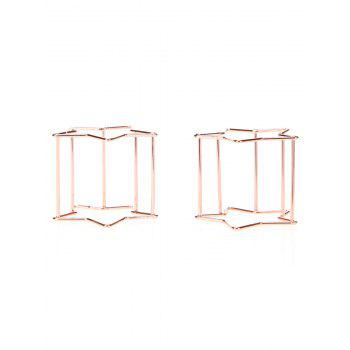 2Pcs Star Shaped Makeup Sponge Holders - ROSE GOLD