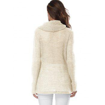 Overlap Turtleneck Sweater - OFF WHITE S