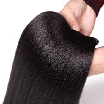 Long Straight Capless Heat Resistant Synthetic Hair Weave - BLACK