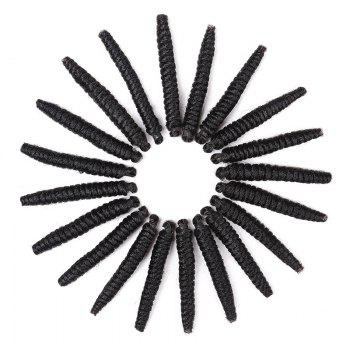 20 Roots/Pack Crochet Braids Spring Twisted Synthetic Hair Extensions - BLACK BLACK
