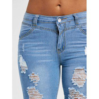 Ripped Skinny Jeans - BLUE 2XL