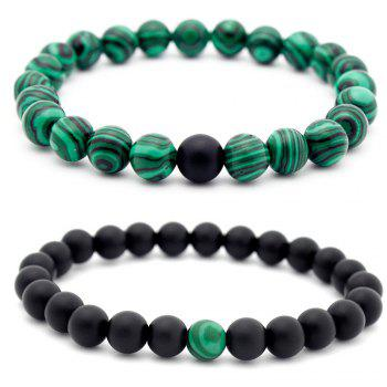 Valentine's Day Couple Beads Bracelet - BLACK AND GREEN BLACK/GREEN
