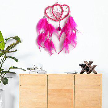 Double Hearts Feather Dreamcatcher Trimming - ROSE MADDER