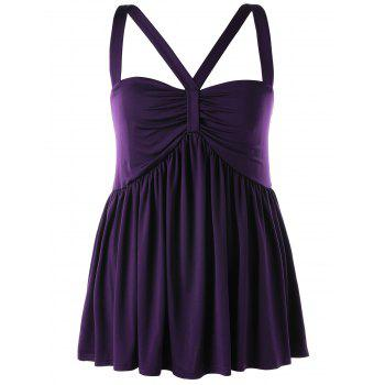 Haut Babydoll Taille Empire - Pourpre 3XL
