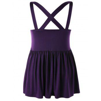 Haut Babydoll Taille Empire Grande-Taille - Pourpre 2XL