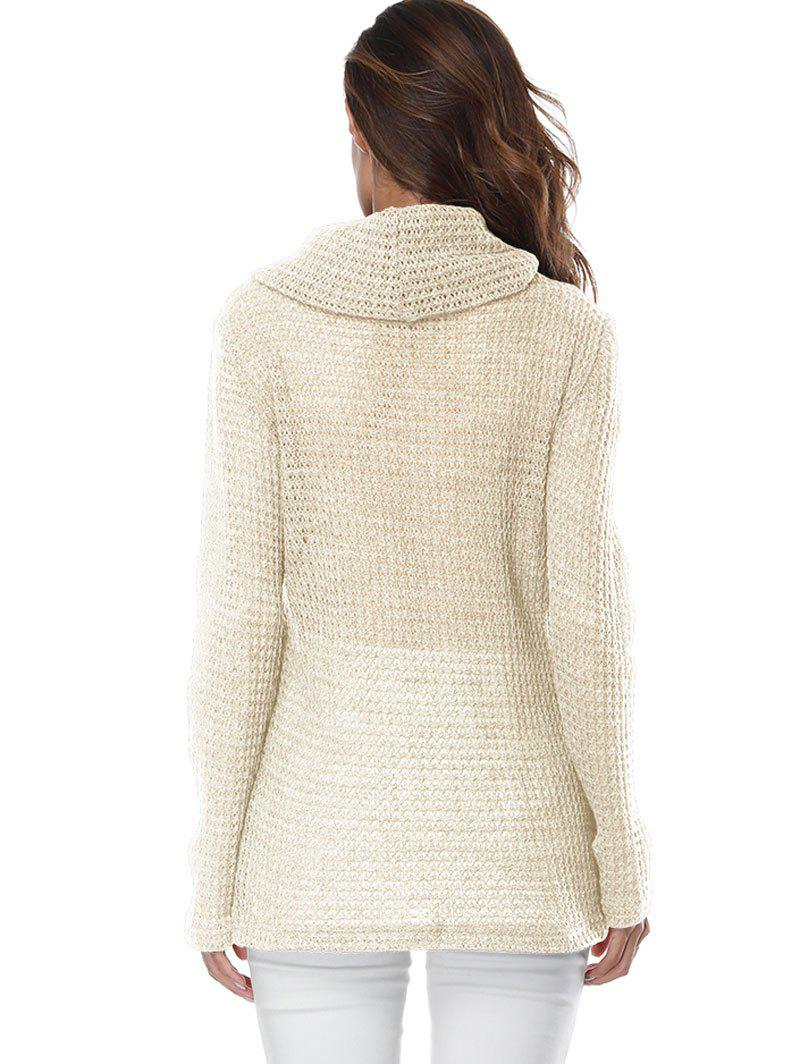 Overlap Turtleneck Sweater - OFF WHITE XL