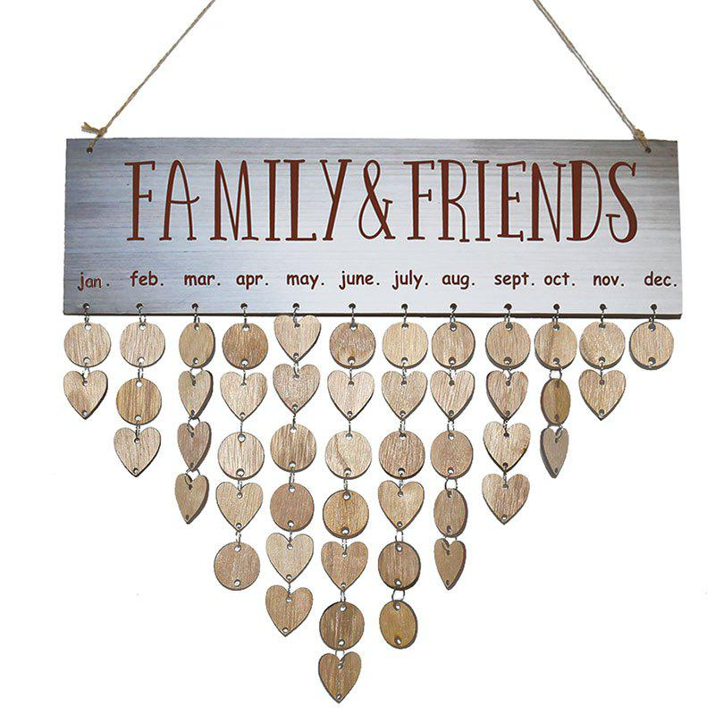 Wooden DIY Family and Friends Birthday Reminder Hanging Plaque Calendar gayle m the hope family calendar