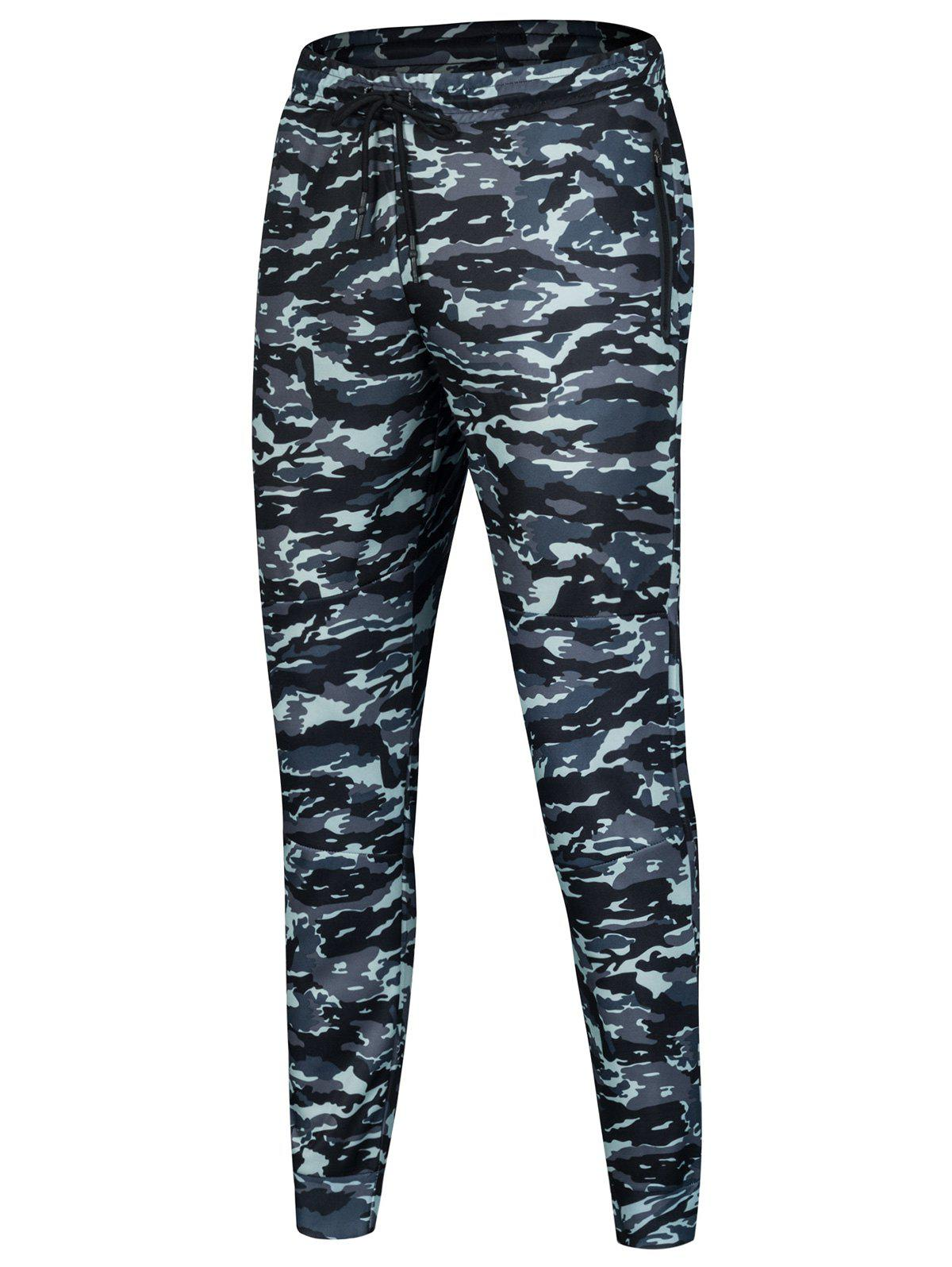 Sports Casual Camouflage Jogger Pants contrast trim jogger casual sports athletic pants