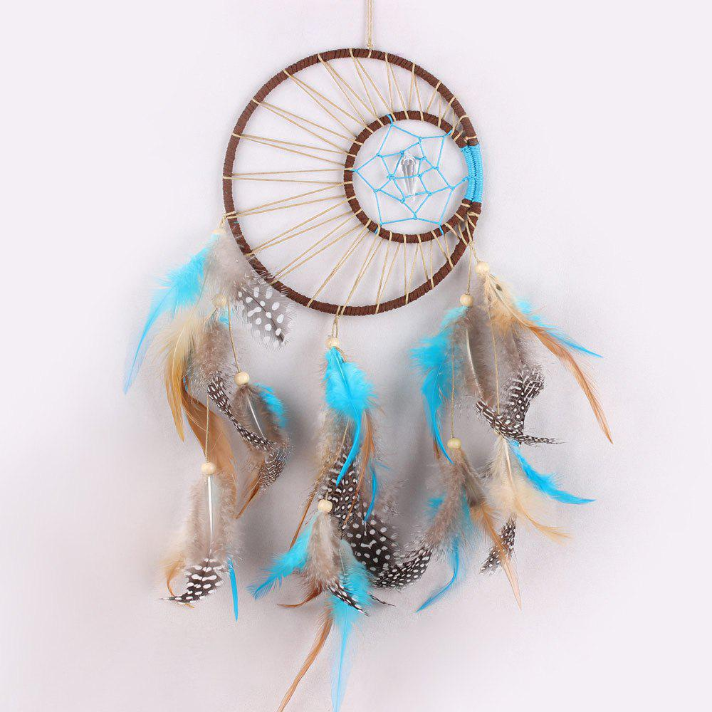 Handmade Feathers Native American Dream Catcher - COLORMIX