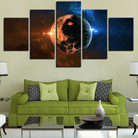 Universe Space Planets Printed Split Canvas Wall Art Paintings