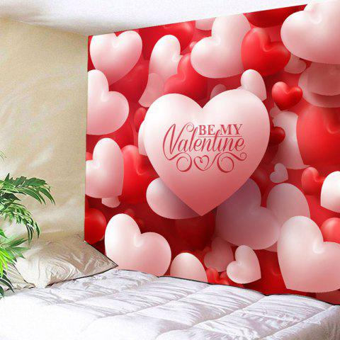 d707f8034e Valentine s Day Wall Hanging Love Hearts Pattern Tapestry - RED PINK W79  INCH   L59