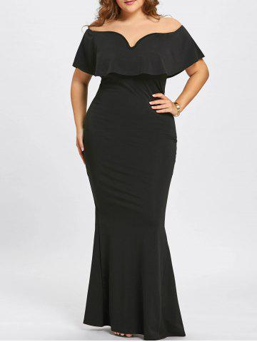Body Con Plus Size Maxi Dresses with Sleeves